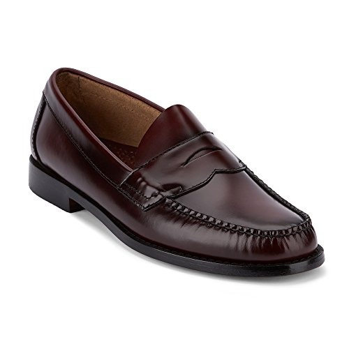 G.H. Bass & Co. Men's Logan Penny Loafer,Burgundy Leather,US 8.5 3E - Logan Leather Shoes
