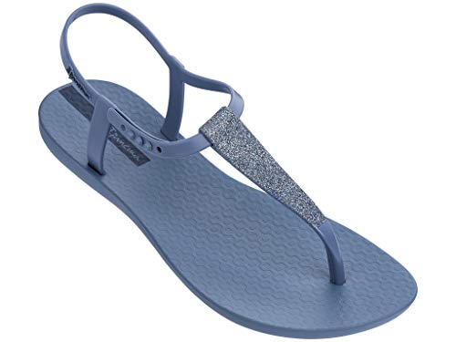 Ipanema Shimmer Women's Sandals, Blue/Silver (7 US)