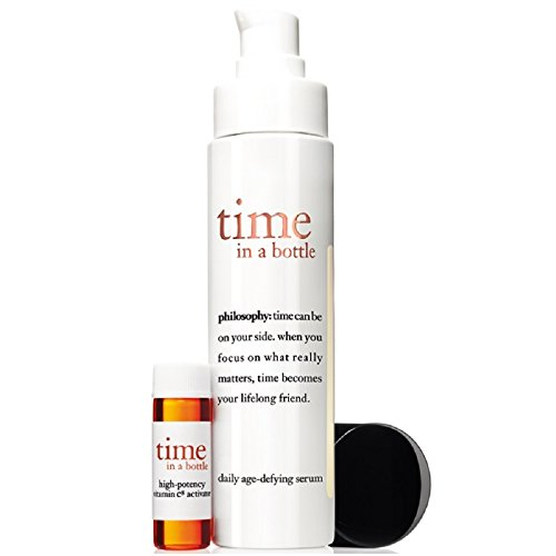 Philosophy Time In A Bottle Daily Age-Defying Serum for Women, 2 Piece Set
