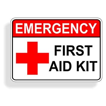 Amazon Com 2 X Red First Aid Sticker Decal For Emergency