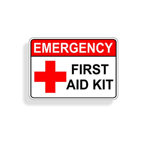 Emergency First Aid Kit Sticker Self Adhesive Vinyl Decal for DIY Box Case Container