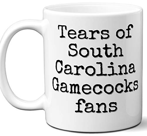 Funny South Carolina Gamecocks Suck Coffee Mug. Tears of Fans. Best Novelty Gift Idea For Anyone Who Says I Hate The South Carolina Gamecocks. 11 oz. ()