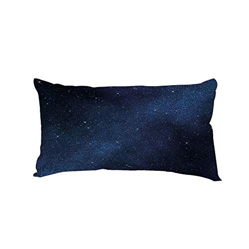Polyester Car Neck Pillow,Night,Space with Billion Stars Inspiring View Nebula Galaxy Cosmos Infinite Universe,Dark Blue White,13.7x7.8Inches,for Car Designed,Travel Car Seat & Home