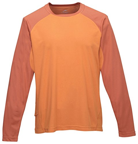 Tri-mountain Mens 100% Polyester Knit Shirts. 634 - BURNT - Sleeve Burnt Orange T Shirt Long