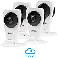 Zmodo 4-Pack EZCam HD Wireless Kid and Pet Monitoring Security Camera with Night Vision, Two Way Audio - Cloud Service Available