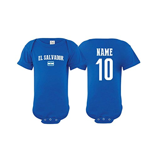 - nobrand El Salvador Bodysuit Infant New Born Country Flag Tee Personalized World Cup Pride (Blue Bodysuit 6M)