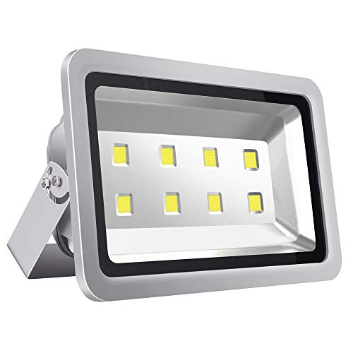 SZPIOSTAR 400W Outdoor LED Flood Lights, Super Bright 40000lm, Cool White 6000K, 50,000 Hrs Lifetime, Waterproof Security Light Fixtures for Backyards Stadium Building Perimeters