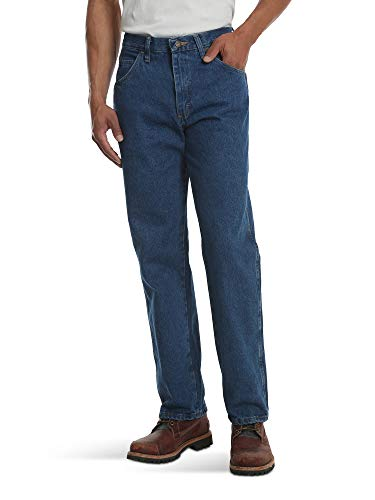 (Rustler Classic Men's Classic Relaxed Fit, Dark Stonewash, 40x29)