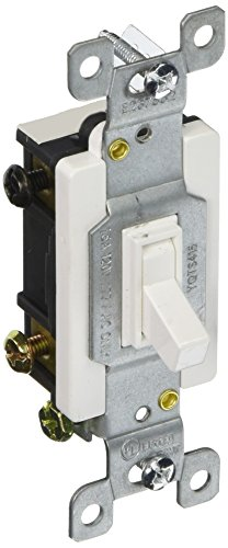 15a 120v Sp Breaker - Morris 82041 Toggle Switch, 4 Way, 4 Poles, 120V/277V, 15 Amp Current, White