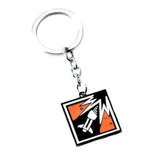 Outlander Brand Tom Clancy's Rainbow Six Siege Auto Premium Quality Silvertone Keychain Key Ring w/Gift Box