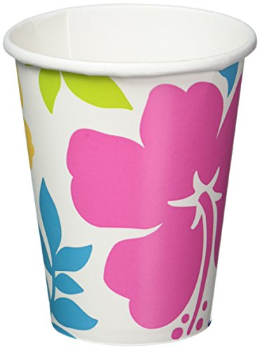 Halloween Refreshment Ideas (AmscanHibiscus Party Cups, 9 oz., 25)