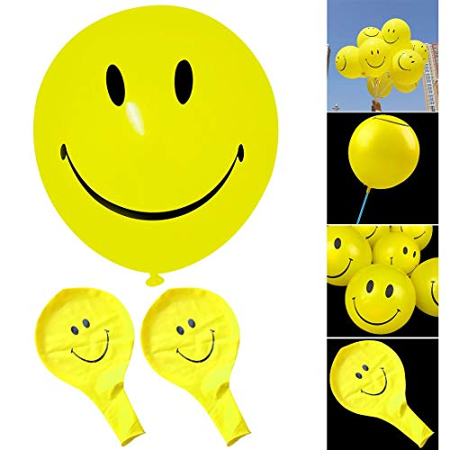 Decorative Decorative - Party Smile Latex Balloon 10pcs 10inch Yellow Smiley Face Balloons Cartoon Inflatable Birthday Home - Accessories Decor Balloon Face Sphynx Heart Pony Shirt Old Circle