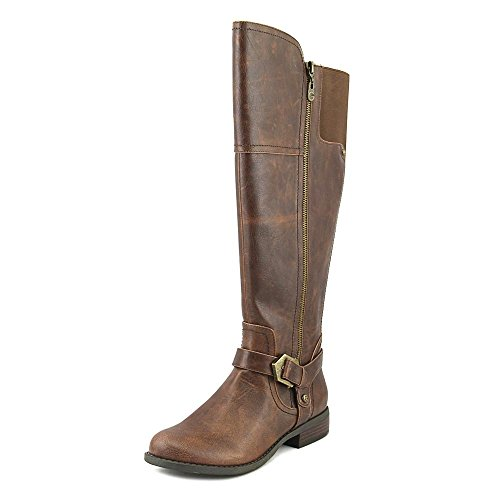 Guess Boots Women - G by GUESS Womens Hailee WC Round Toe Knee High Fashion Boots Dark Brown SY 7.0.