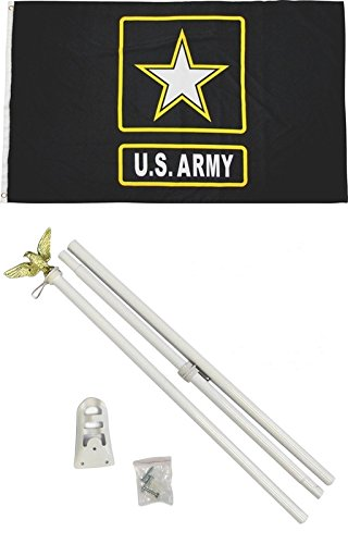 3'x5' US ARMY Black & Gold Star Polyester Flag and 6' POLE K