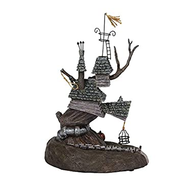 Department56 Nightmare Before Christmas Village Lock Shock and Barrel Treehouse Lit and Building and Figurine, 10.7 , Multicolor