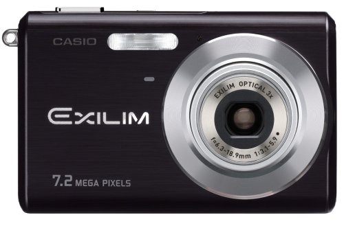 Casio Exilim EX-Z70 7.2MP Digital Camera with 3x Anti Shake Optical Zoom (Black) (Casio Memory Digital Card)