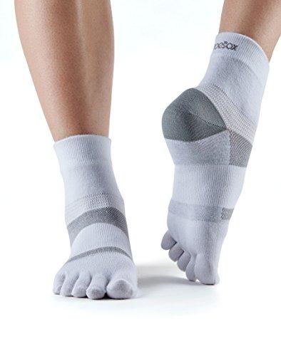 toesox Women's Performance Five Toe Ankle Minnie Sport Toesocks