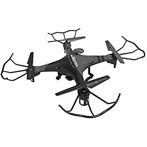 PCT Brands Zero Gravity Talon HD Wi-Fi Drone with 3 Batteries for 20 Minutes Flying Time, Black, Large