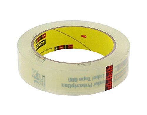 3M Scotch 800 Clear Label Protective Roll - 1 in Width - 72 yd Length - Bulk - 03551 [PRICE is per ROLL]