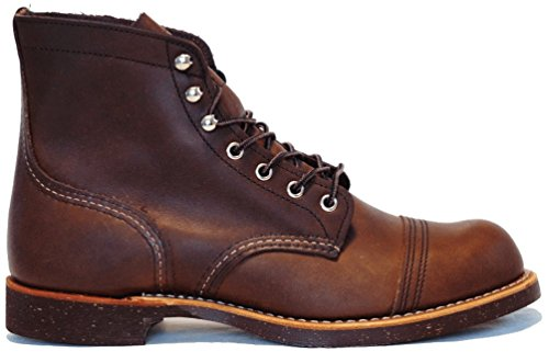 Red Wing Mens Iron Ranger 8111 Brown Leather Boots 8 - Wing Red Boots Engineer
