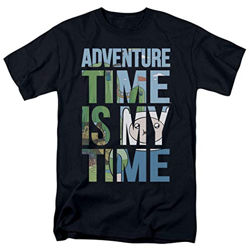 Adventure Time My Time Cartoon Network T Shirt (X-Large) Black -