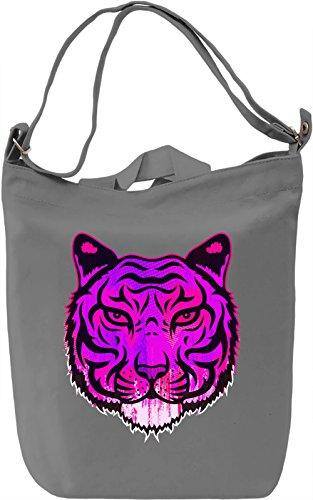Pink Tiger Borsa Giornaliera Canvas Canvas Day Bag| 100% Premium Cotton Canvas| DTG Printing|