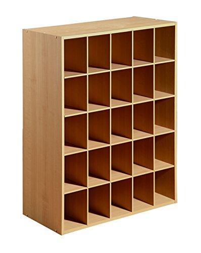 Maple Stackable Storage Organizer - 25-Cube Organizer, Maple