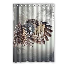 Owl Custom Polyester Soft healthy Window Curtain 52\