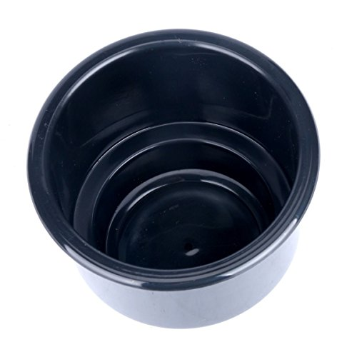 Legoyo 1 Pcs Boat Black Recessed Plastic Cup Drink Can Holder with Drain -new