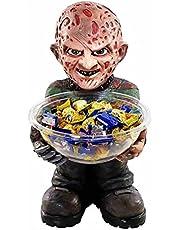 Halloween Candy Bowl Holder,Freddy Krueger Candy Bowl Holder,Fun Candy Bowl for Office Desk Horror Halloween Decoration,Used to Put Candies, Snacks, Keys