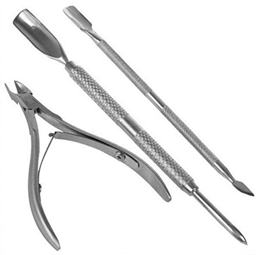 32 Taper Length Drills (3 Pcs Essential Popular New Nail Cuticle Nipper Clipper Handy Scissor Footful Kit Trimmer Tools Metal Stainless Steel Color Silver)