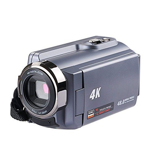 THYMY Camera Camcorders, Ultra HD (48 Mega Pixels) 4K 2160P 16X Digital Zoom Night Vision Video Camera with Wifi and Digital Video Camcorder and 3.0″ LCD 270
