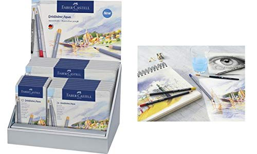 Faber-Castell 853 M Faber 214610 Watercolour Pencils Gold, in Display