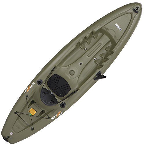Lifetime Triton Angler 100 Fishing Kayak, Olive ()