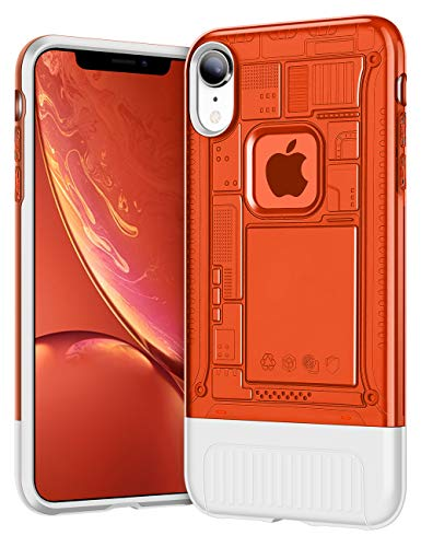 AEMOTOY Case for iPhone XR Anti-Slip Grip Slim Fit Shell Shock-Absorption iPhone XR Case Dual Layer Hard Translucent PC Back Protective Soft Inner Cover for Apple iPhone XR (2018),6.1 inch - Red