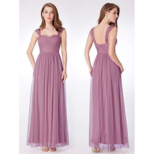 Ever Pretty Damen Feminine ärmellose Brautjungfer Kleider
