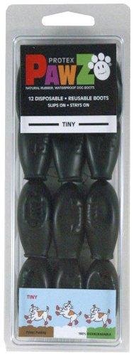 Pawz Black Dog Boots, Tiny