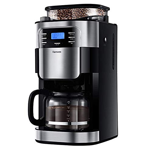 Kenwell Coffee Maker with 10-Cup Programmable Thermal Coffee Maker and Strong Brew, Glass Carafe, Stainless steel/Black
