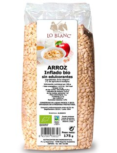 Arroz integral inflado bio sin edulcorantes Lo Blanc - Bolsa 175 g