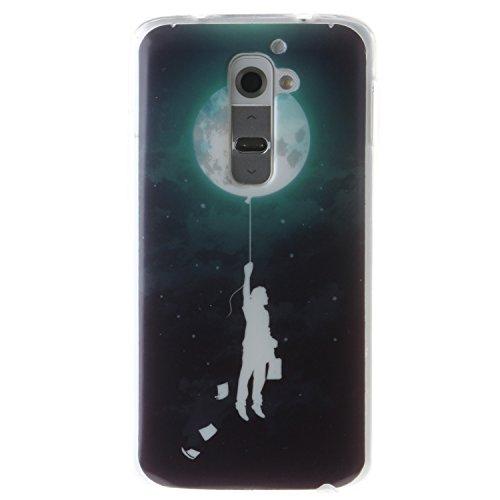 LG G2 Case, BONROY® LG G2 Fashion colorful pattern Case Bumper Transparent Soft Gel Shockproof Case Resist Protection Shell for LG G2