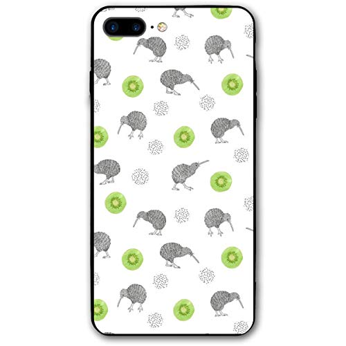 Yiyingzhang iPhone 7 Plus Case, iPhone 8 Plus Case, Watercolor Kiwi Birds and Kiwifruit Applicable Full Body Protective Shockproof Sandproof Dirtproof Phone Cases for iPhone 7/8 Plus