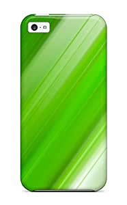Top Quality Rugged Fresh Green Abstract Case Cover For Iphone 5c