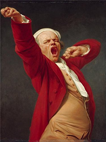 'Self-Portrait, Yawning, Before 1783 By Joseph Ducreux' Oil Painting, 10x13 Inch / 25x34 Cm ,printed On High Quality Polyster Canvas ,this High Definition Art Decorative Canvas Prints Is Perfectly Suitalbe For Nursery Decor And Home Gallery Art And Gifts