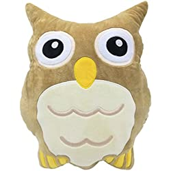 "Monqiqi 14"" Owl Throw Pillow Emoji Plush Pillow Owl Stuffed for Couch, Home Decorations and Birthday Party Supplies Favors"
