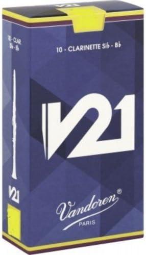 CAÑAS CLARINETE - Vandoren V21 (Caja Azul Claro) (Dureza 3) (Caja de 10 Unidades): Amazon.es: Instrumentos musicales