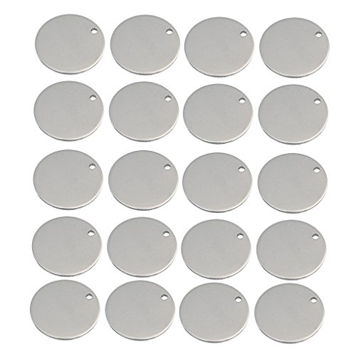 - Fityle Stainless Steel Blank Stamping Tag Pendants Sets for Bracelet Earring Pendant Charms Blank Coin Drop Stamping Charms Bail Pendants Jewelry Findings Silver Tone Multiple Sizes - 6mm