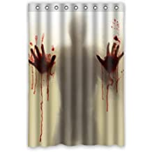 "Horrific and Exciting Man Murder Silhouette Shadow 48"" x 72"" Polyester Fabric Waterproof Shower Curtain Bathroom"