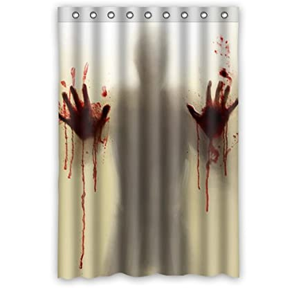 Horrific And Exciting Man Murder Silhouette Shadow 48quot X 72quot Polyester Fabric Waterproof Shower