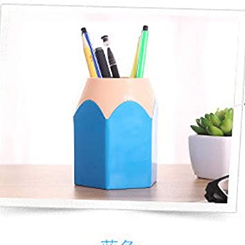 Pen Holder Creative Pen Vase Pencil Pot Pen Holder Container Stationery Plastic Desk Organizer Tidy Container School Office Supplies