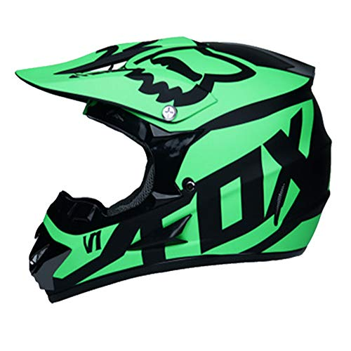 (Adult Men Woman Helmet Moto Motocross Motorcycle Off Road ATV Dirt Bike Racing w/Goggles Gloves,M)